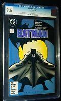 BATMAN #405 Year One Part 2 1987 D.C. Comics CGC 9.6 NM+