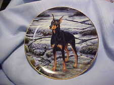 "Danbury Mint Doberman Pinschers Collection Jeremy Paul ""Water's Edge"""
