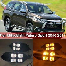 2Pcs LED Daytime Running Light DRL For Mitsubishi Pajero Sport Montero 2016-2017