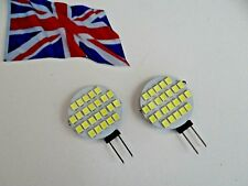 2 x G4 24SMD 12Volt DC 1.8Watt Brilliant White LED Bulbs  - Genuine UK Stock