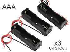 1.5V AAA Volt DC battery box case holder with wire leads x 3