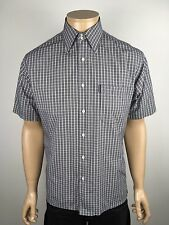 Mens Short Sleeve Black Check Shirt By Rockport Size M