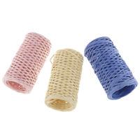 3er-Set DIY Papierdraht Basteldraht Papierkordel / Papierschnur mit Draht