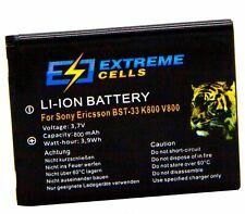 Extremecells battery Sony Ericsson W595 W395 W205 W705 BST-33 W660i M600i P990i