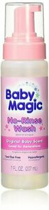 Baby Magic No-Rinse Wash 7 Ounce Original Baby Scent (207ml) (4 Pack)
