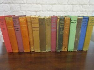 15 Vtg Early 1900's Zane Grey Western Collection HC Book Lot Library 1st Edition