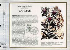 DOCUMENT CEF PREMIER JOUR 1983  TIMBRE N° 2266  CARLINE  FLORE