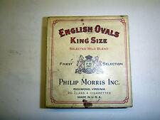 VINTAGE ENGLISH OVALS CIGARETTE BOX. EMPTY. PHILIP MORRIS,INC.