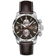 Certina Men's 42mm Chronograph Automatic Brown Calfskin Watch C0014271629700