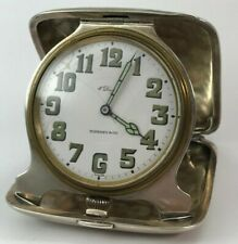 Antique Travel Clock, Silver Concord Watch. Co. Case, Tiffany & Co., Swiss, Runs