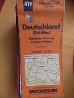 carte routière  Michelin 419 allemagne sud ouest 1996