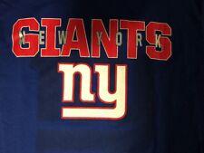 New York Giants NFL Team Apparel Majestic 2015 Season Schedule M Shirt New NWT