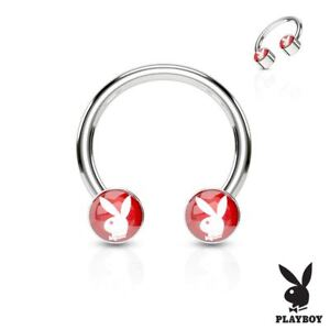 Piercing Horseshoe Playboy Red