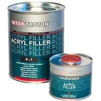 HS Acryl Füller 5Kg Troton 2K Primer Grundierung 5:1 2,5L Grau Härter 0,5L