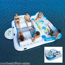 Tropical Tahiti Floating Island, Inflatable Floating Island, 6 Person Float