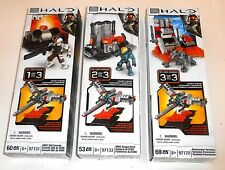 Halo Mega Bloks - #97131, 97133, 97170 - MULTI PART SET OF 3 - New BNIB MIB