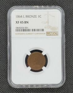 1864-L Indian Head Cent | NGC XF45