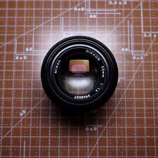 Nikon Nikkor 50mm f/1.4 Non-AI/ Pre-AI K Lens Black Finish Bullet Nose #561