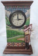 Enesco Heartwood Creek Jim Shore Clock - Golfer - NWT
