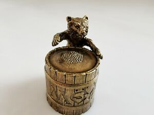 Decorative brass thimble collectible Bear Finger thimble collection