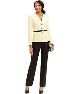 Tahari ASL Belted Herringbone Women's Suit Jacket