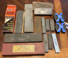 Vintage And Modern Sharpening Stone Lot - Acme Oil Stone - Smith's - See Photos!