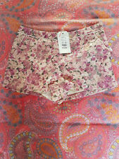 Womens shorts new look miss real london pink gold sparkle pockets size 10 BNWT