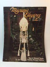 MACRAME Elegance II Plant Holders Owls Table Hammock Wall Art Necklaces BOOK