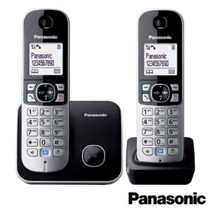 PANASONIC TG6812 TWIN DECT CORDLESS TELEPHONE SET CALLER ID SILVER - KX-TG6812EB