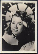 JANE WITHERS child actress VINTAGE ORIG FAN PHOTO DBW 5x7 printed autograph