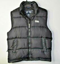 First Down Men's Puffer Vest Winter Down Full Zip Coat Warm Black Size Medium
