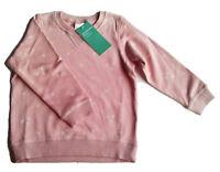 Sweat Shirt Gr.86 H&M NEU alt-rosa 100% baumwolle bio Herzen pullover baby