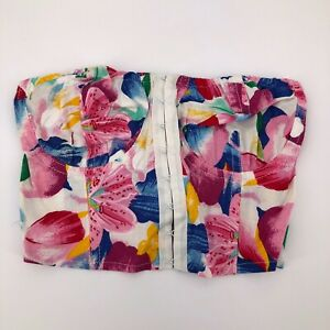 Sexy Flirty Floral Corset Bustier Top Outerwear
