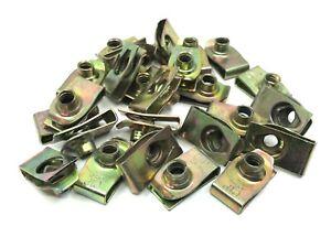 valance underhood 1/4-20 short foldover panel nuts yellow zinc 25pcs fits chevy
