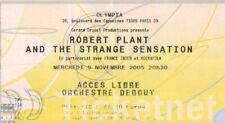 ticket billet stub used place concert ROBERT PLANT 2005 PARIS LED ZEPPELIN