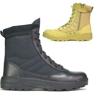 MENS ARMY COMBAT SECURITY WORK POLICE TACTICAL LADIES MILITARY BOOTS SHOES 3-11