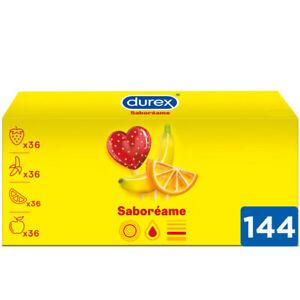 Durex Preservativos Saboreame con Sabores Afrutados - Pack ahorro 144 condones