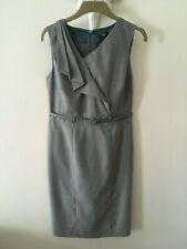 M&S Smart Light Grey  Belted  Pencil   Dress Office / Work / Business  Size 14