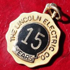 New listing 10k yellow gold 15year service pendant The Lincoln Electric Co. vintage 3.6gr