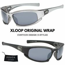 Men's Xloop Contour Design Frame Sports Wrap Biking Cycling Golf Sunglasses