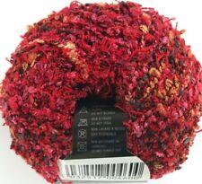 Filatura Di Crosa Saint Tropez #104 Red Hot Pink Black Boucle Yarn Skein Italy