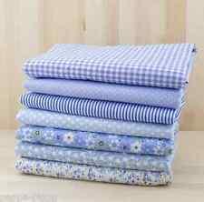 Lote de 7 telas algodon 50x50 cm fabric patchwork quilting cotton blue series