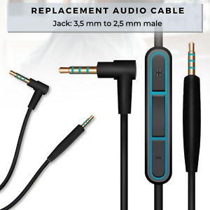 Audio Cable For Bose QuietComfort QC25 QC35 SoundLink around-ear II Headphones