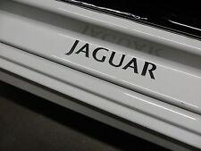 (2pcs) JAGUAR doorstep badge decal - BLACK