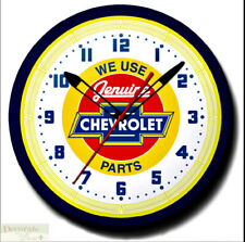 """Chevrolet Genuine Parts Chevy Neon 20"""" Wall Clock Made in the Usa - Warranty New"""