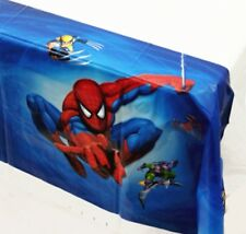 180x108 cm Garçons Spiderman bleu en Plastique Table Housse en Tissu Fête Décoration Enfants