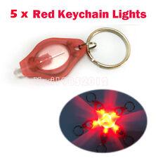 5pcs x Super Bright Red Flashlight Maps Night Reading Led Keychain Red Lights