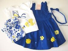 Gymboree Baby Girl Blue 12-18 New Bayou Dress Bodysuit Top Pants Socks Headband