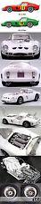 HIRO MFH 1/12 FERRARI GTO 250 GTO250 1963 TOURIST TROPHY #11 HILL #16 PIPER