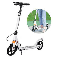Foldable Kick Scooter Outdoor Ride Portable Height Adjustable Scooter+Disc Brake